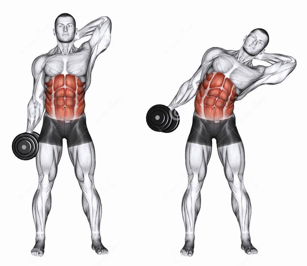 Боковые наклоны для мышц пресса