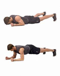 Планка для мышц спины