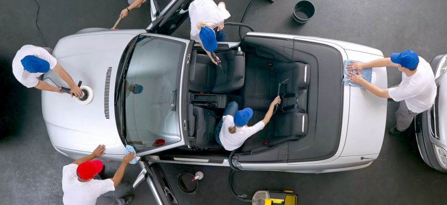 Как делается химчистка авто