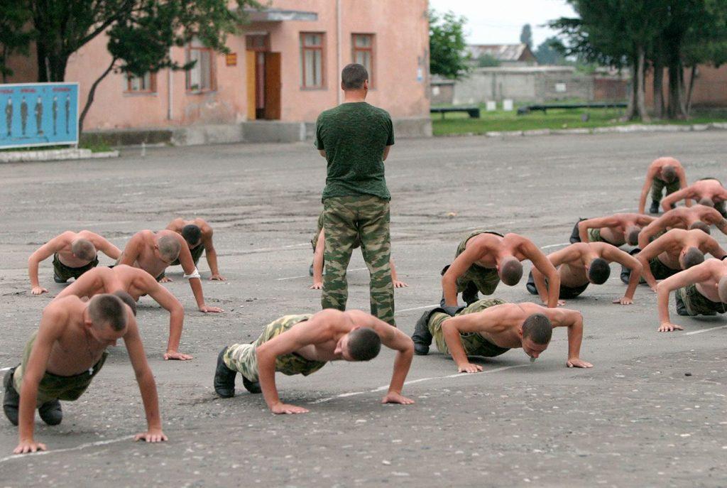 отжимания в армии
